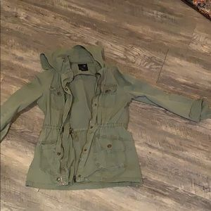 Army green jacket with hood from tilly's